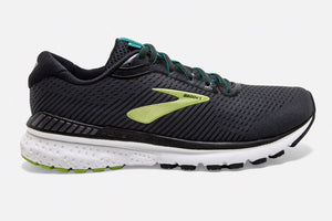 brooks adrenaline gts 20 mens running shoe in Black and Lime