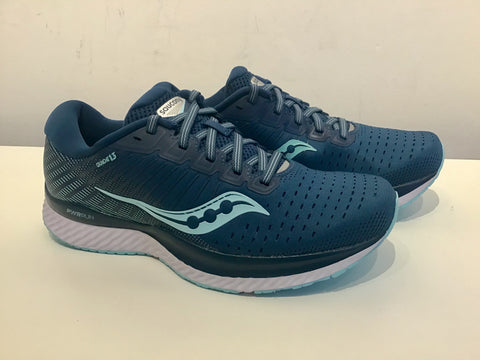Ladies Saucony Guide 13 Running Shoes. Blue/Aqua
