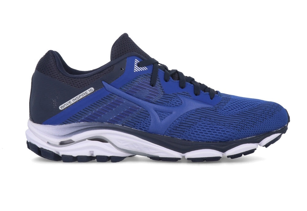 Mens Mizuno Wave Inspire 16 Running Shoes Blue/Navy