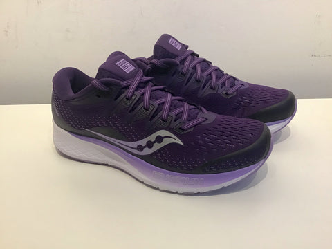 Ladies Saucony Ride ISO 2 Running Shoes. Purple/Violet