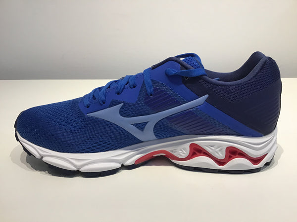 Ladies Mizuno Wave Inspire 16 Running Shoes. Princess Blue/Delia Robbia Blue/Diva Pink