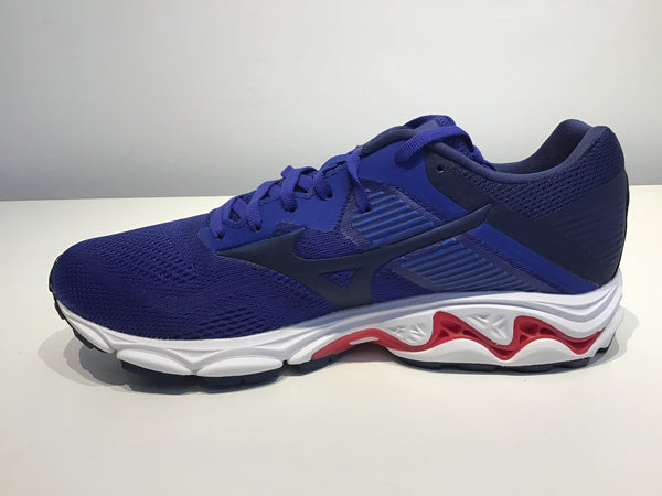 Mens Mizuno Wave Inspire 16 Running Shoes Reflex Blue/Diva Pink