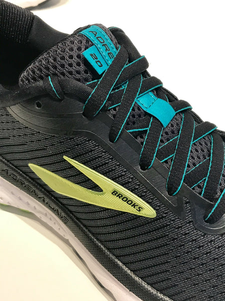 Mens Brooks Adrenaline GTS 20 Running Shoes Black/Lime