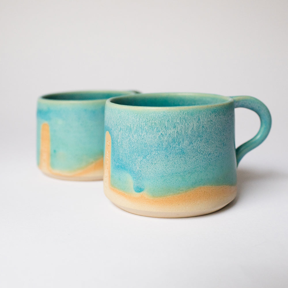 Turqouise Flow Set | 2 mugs