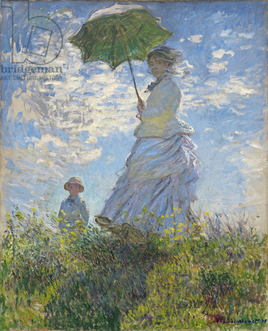 1-64 Woman with a Parasol – Madame Monet and Her Son