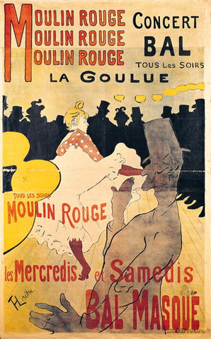 1-65 Poster: 'La Goulue' at the Moulin Rouge