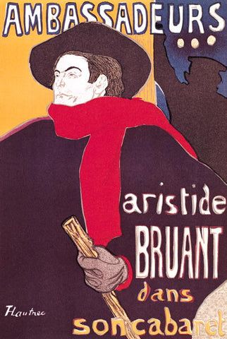 3-13 Poster: Aristide Bruant in his cabaret at the Ambassadeurs