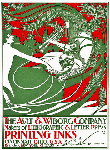 3-20 Art Nouveau poster depicting Pan