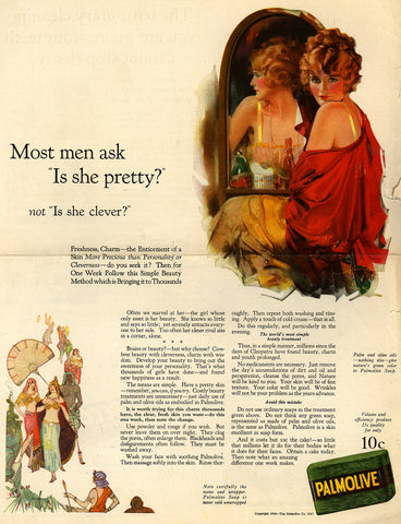 3-31 Advertisement: Most men ask 'Is she pretty?' not 'Is she clever?'