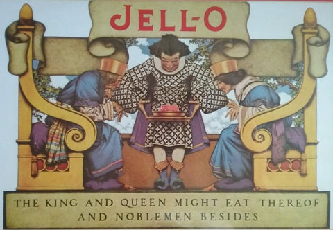 Maxfield Parrish 1922 Jell-O advertisement (1922): Beautifully framed reproduction