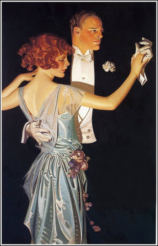 "Beautifully framed reproduction of 1918 Arrow Collar advertisement by J. C. ""Joe"" Leyendecker"