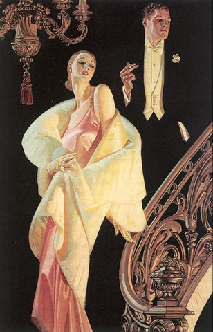 Beautifully framed reproduction of 1925 Arrow Collar advertisement by J. C. Leyendecker