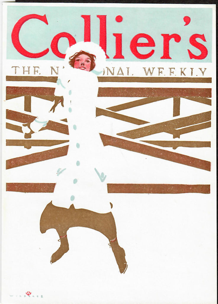 "Robert Wildhack cover illustration for ""Collier's Weekly"" (1910): rare, beautifully framed antique"