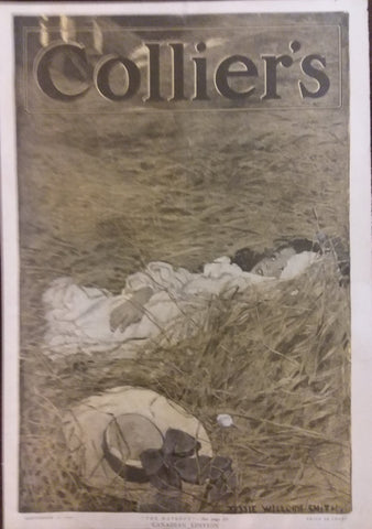 "Jessie Willcox Smith cover illustration for ""Collier's Weekly"" (1905): rare, beautifully framed antique"