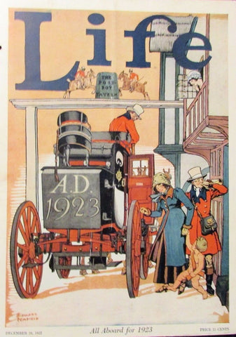 Edward Penfield cover illustration for Life (1922): a beautifully framed antique