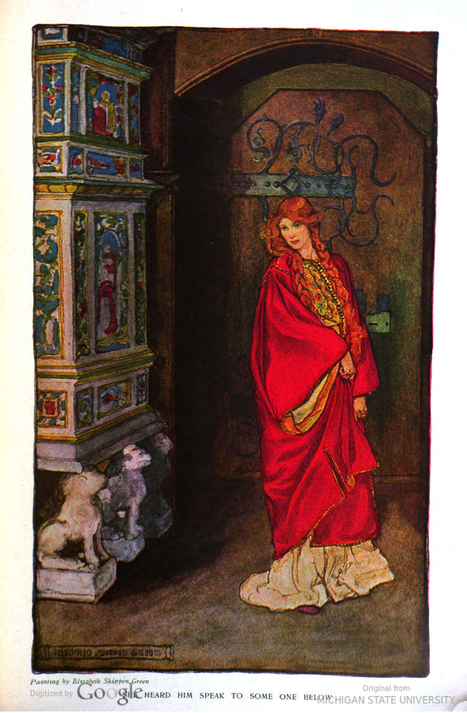 "Elizabeth Shippen Green story illustration from ""Harper's Monthly"" (1907): beautifully framed antique"