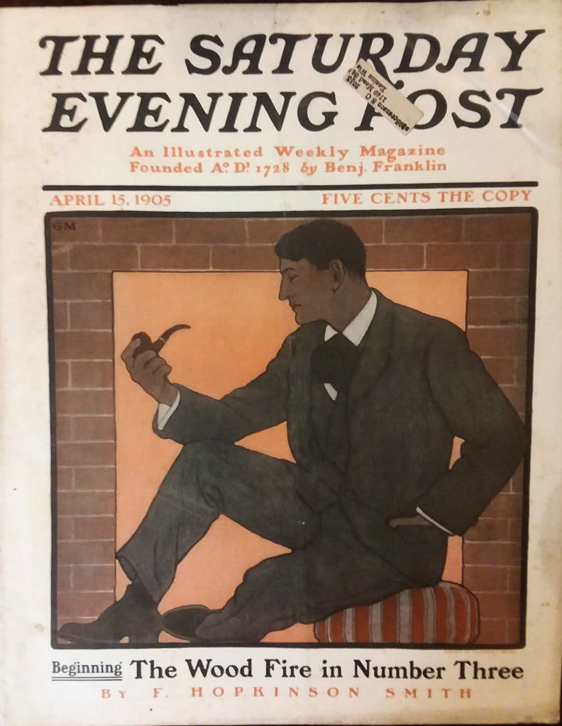Rare, beautifully framed 1905 Saturday Evening Post cover by Guernsey Moore