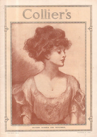"""Gibson Girl"" cover illustration for ""Collier's Weekly"" (1909): a beautifully framed antique"