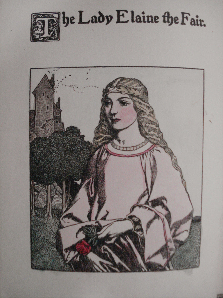 "Howard Pyle illustration for ""The Story of Launcelot"" 1907: framed original illustration"