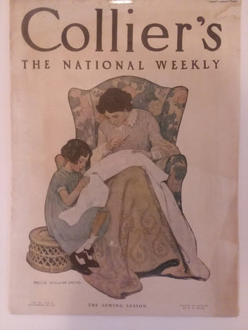 "Jessie Willcox Smith cover illustration for ""Collier's Weekly"" (1907): rare, beautifully framed 1907 Collier's magazine antique"