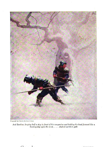 "Rare, beautifully framed 1916 book illustration from ""The Black Arrow"" by N. C. Wyeth"
