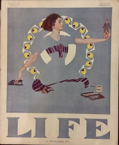 "Coles Phillips Fadeaway Girl cover for ""Life"" (1911): rare, beautifully framed antique"