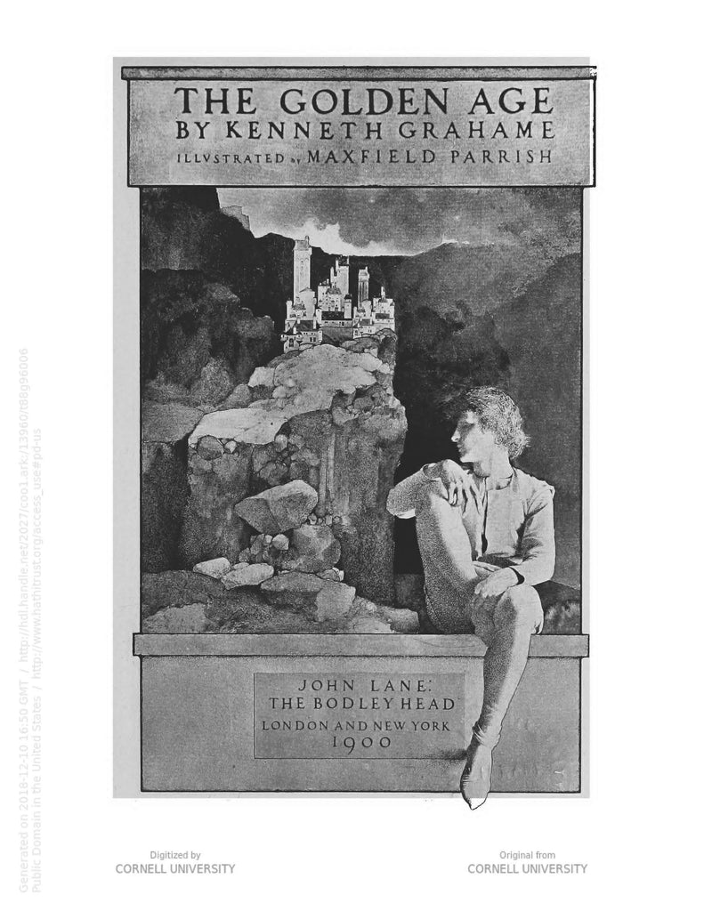 "Maxfield Parrish title page illustration for ""The Golden Age"" (1900)"
