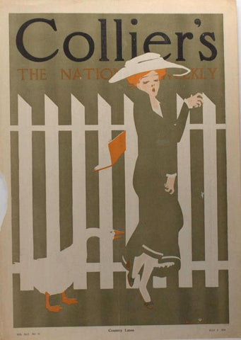 Robert Wildhack cover illustration for Collier's Weekly (1910): a beautifully framed antique