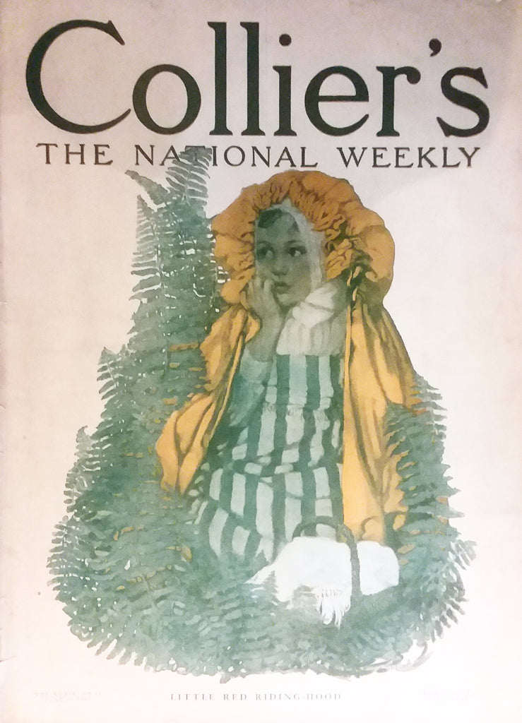 "Sarah Stilwell cover illustration for ""Collier's Weekly"" (1907): rare, beautifully framed antique"