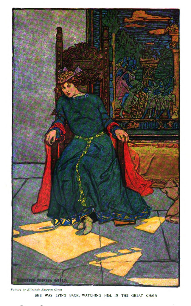 "Elizabeth Shippen Green story illustration for ""Harper's Monthly"" (1906): beautifully framed antique"