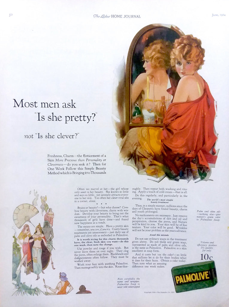 Rolf Anderson Advertisement Illustration for Palmolive (1924): a beautifully framed antique