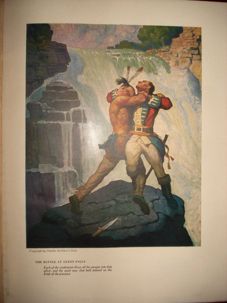 "N. C. Wyeth illustration from ""The Last of the Mohicans"" (1919): rare, beautifully framed antique"