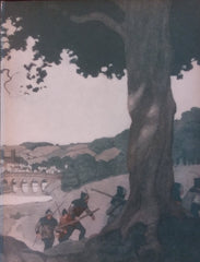 "N. C. Wyeth end paper illustrations from ""Robin Hood"" (1917): rare, beautifully framed antique"