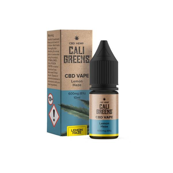 Cali Greens Vape 600mg 10ml CBD E-Liquid THC<0.2%