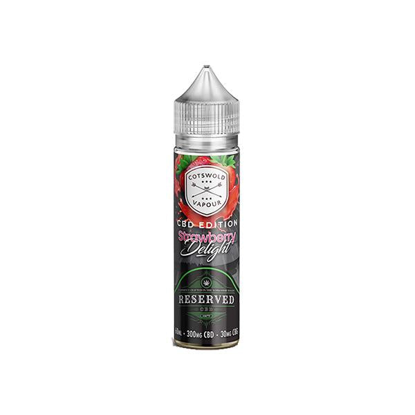 Reserved CBD (300mg CBD : 30mg CBG) 60ml E-Liquid THC<0.2%