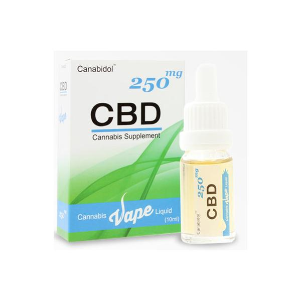 Canabidol 250mg CBD Vape E-liquid 10ml THC<0.2%