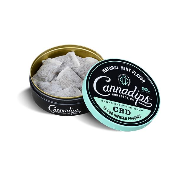 Cannadips 150mg CBD Snus Pouches - Natural Mint THC<0.2%