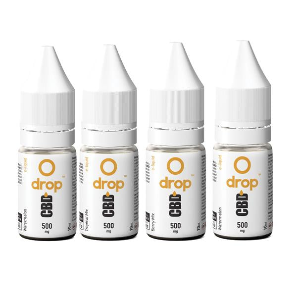 CBD Drop Flavoured E-Liquid 500mg 10ml THC<0.2%