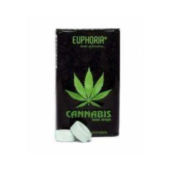Euphoria Cannabis Mint Drops - With Real Cannabis THC<0.2%