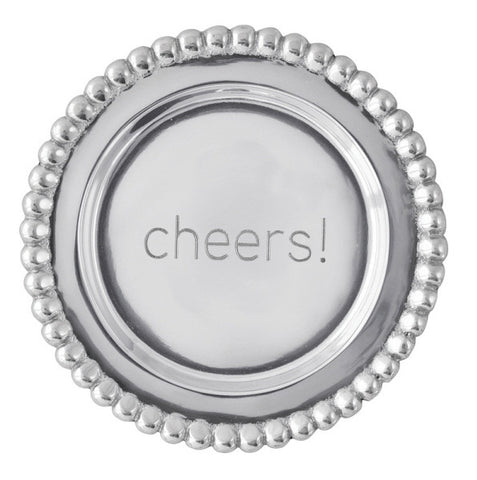 """Cheers"" Beaded Wine Plate"