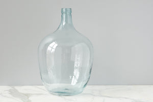Recycled Glass Demijon, Clear 30L