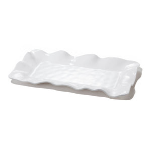 Beatriz Ball Melamine Platter White Long Rectangle