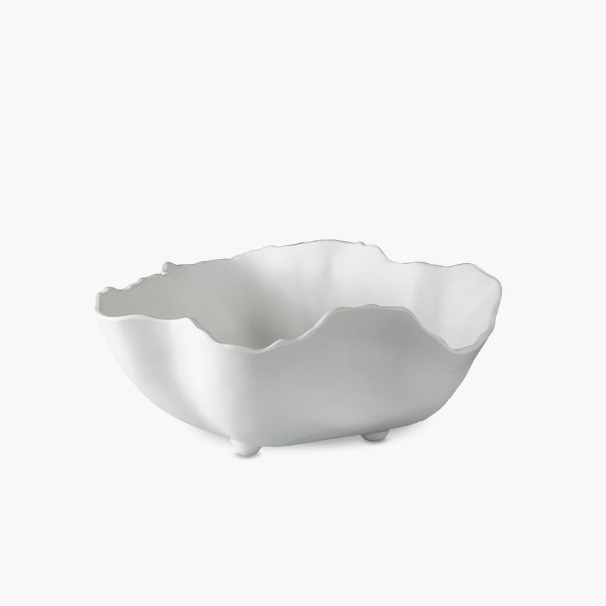 Beatriz Ball Melamine Large Bowl Organic White Matte
