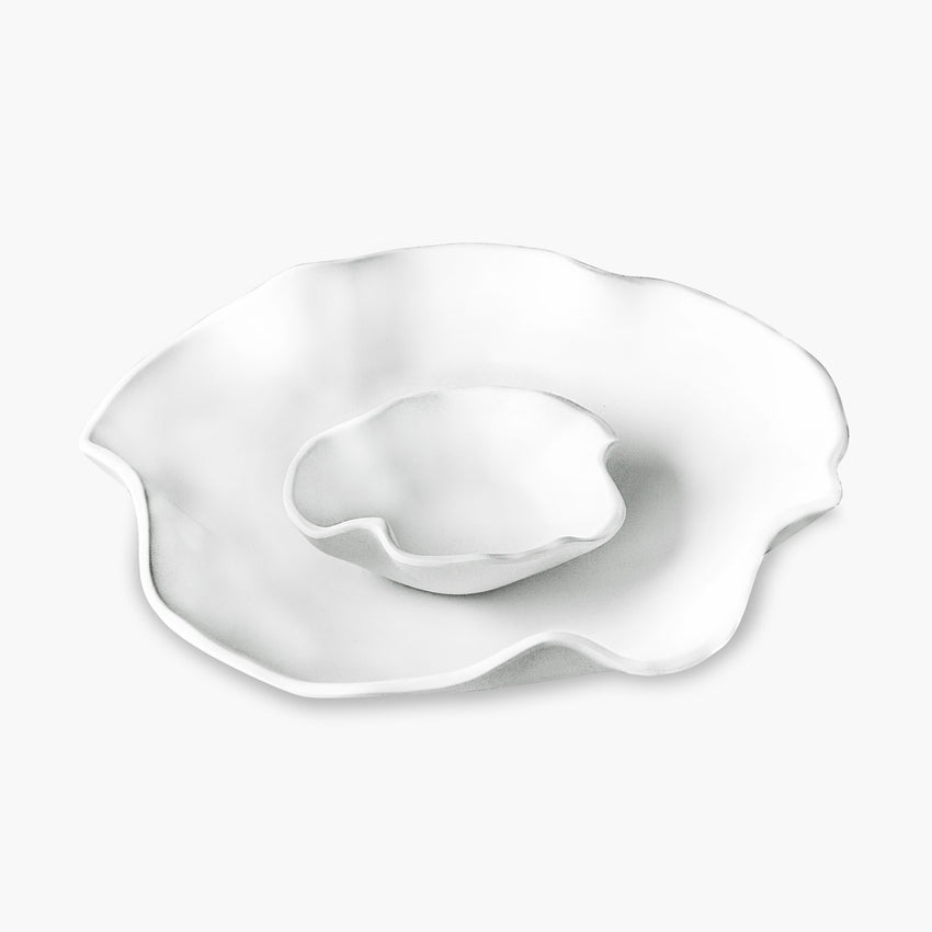 Beatriz Ball Melamine Chip & Dip Bowl Organic White Matte