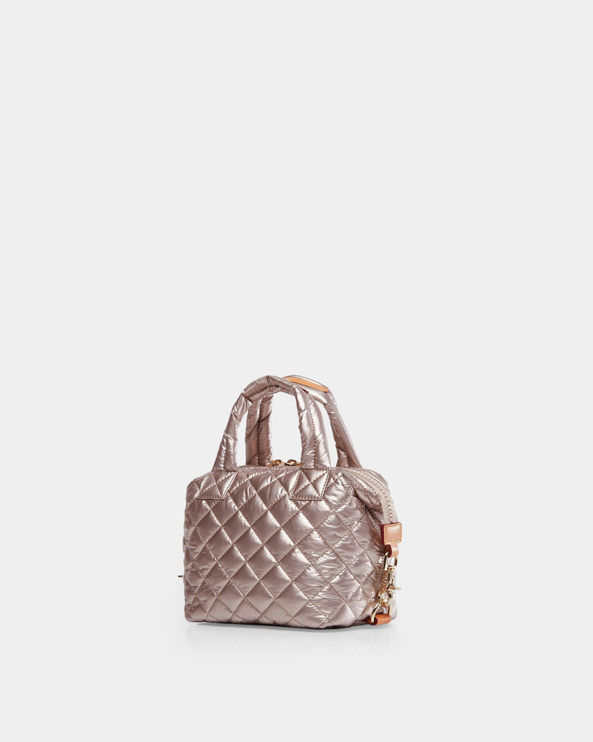 MZ Wallace Micro Sutton Bag Rose Gold Metallic