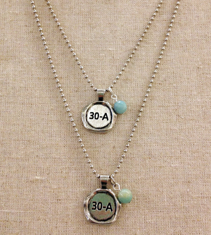 "Necklace ""30 A "" Charm"