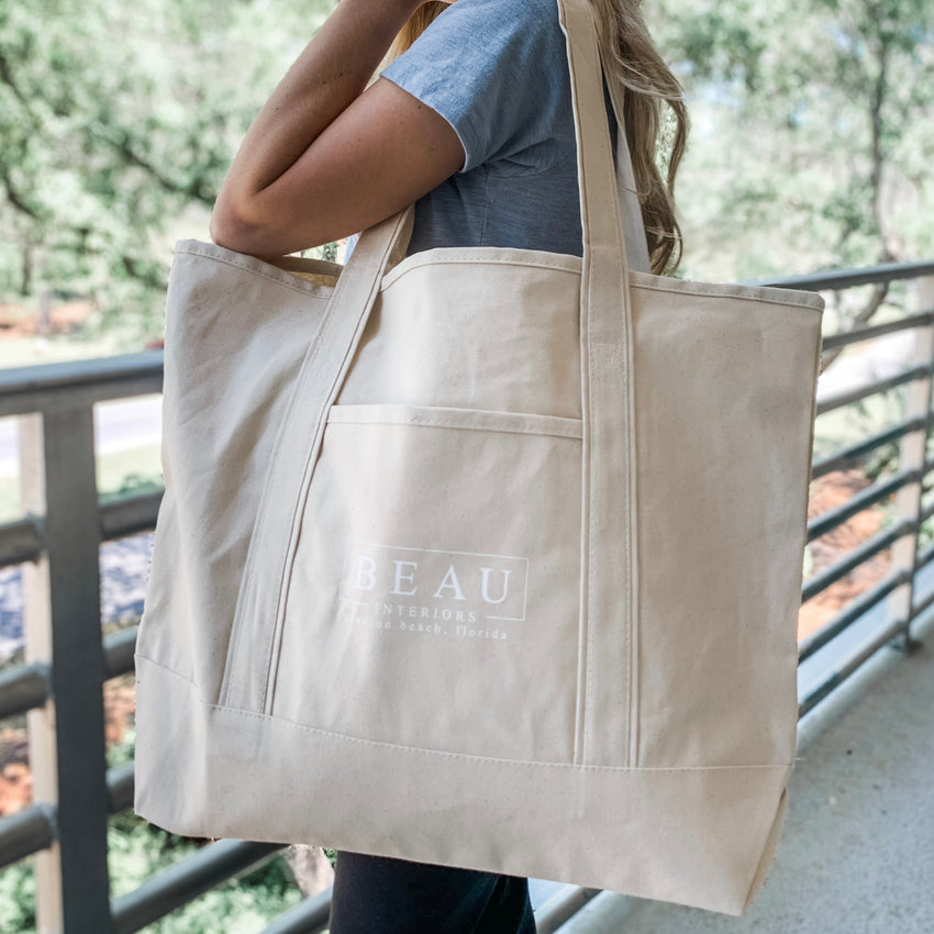 Beau Interiors Canvas Tote