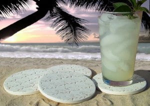 Moisture Absorbent Coasters - School of Fish