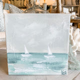 Original Art - Katie Toombs Boats 8x8""