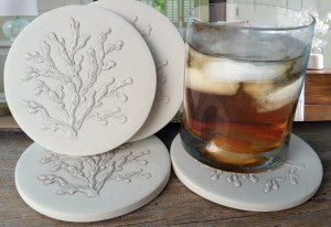 Moisture Absorbent Coasters - Coral